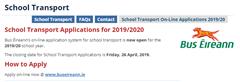 Iompar Scoile / School Transport 2019/2020